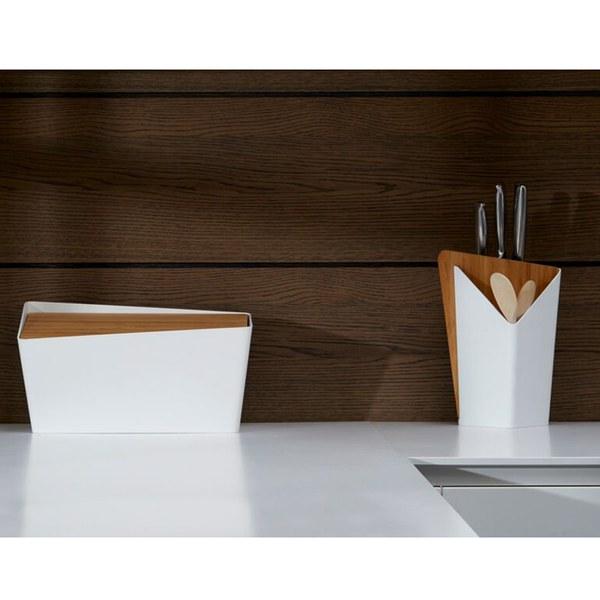 black blum forminimal bread bin and chopping board white homeware. Black Bedroom Furniture Sets. Home Design Ideas