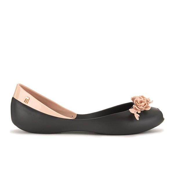 1696d7e833146 Alexandre Herchcovitch For Melissa Women S Flower Queen Ballet Flats Black  Contrast Image 1