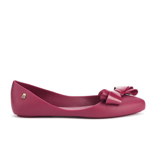 Melissa Women's Trippy 14 Pointed Bow Ballet Flats - Maroon