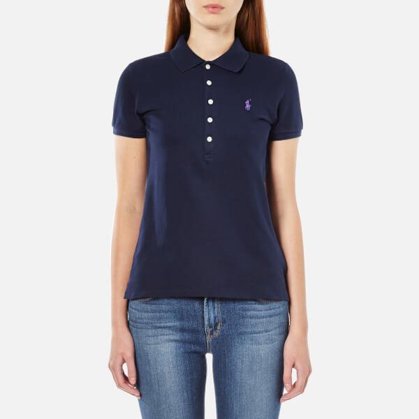Polo Ralph Lauren Women's Julie Polo Shirt - Cruise Navy - Free UK ...