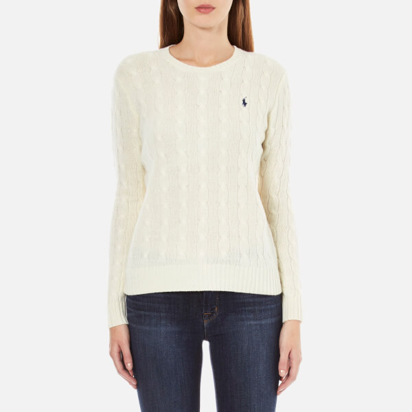 Polo Ralph Lauren Women S Julianna Jumper Cream Free