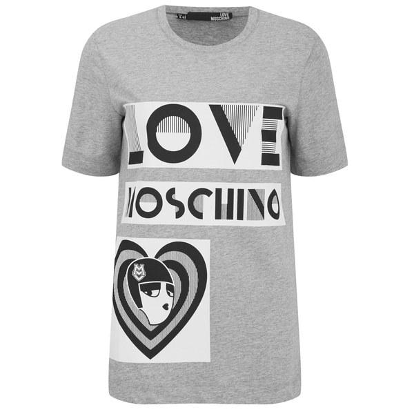 Moschino Love face T-shirt HOA1G