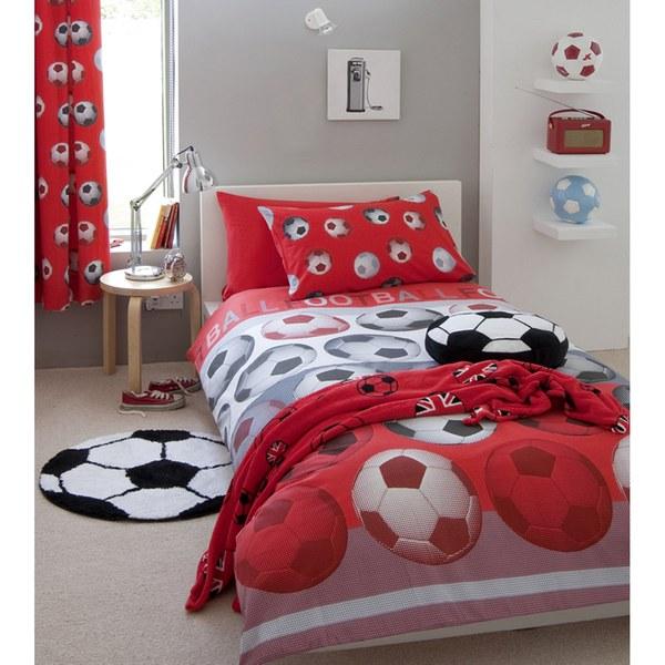 Catherine Lansfield Football Duvet Set - Red