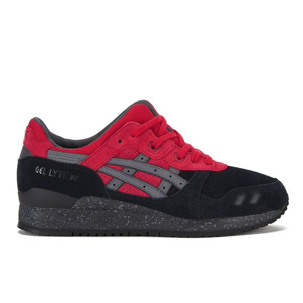 red /black asics shoes gel lyte bad santa kid grown up 681088