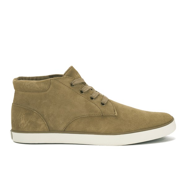 Polo Ralph Lauren Men's Odie Suede Mid Cupsole Trainers - Dark Tan: Image 1