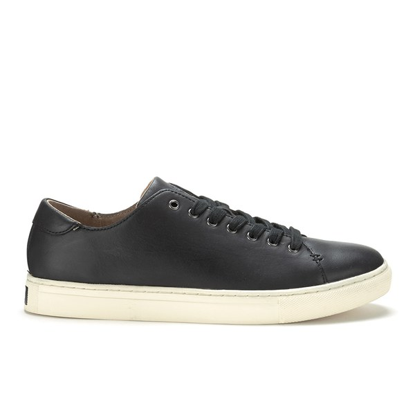 Polo Ralph Lauren Men s Jermain Leather Trainers - Black  Image 1 45cb66d63265
