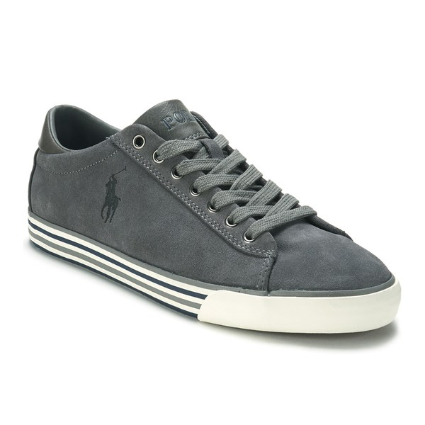 Polo Ralph Lauren Men's Harvey Suede Trainers - Charcoal Grey: Image 4