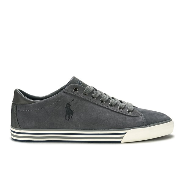 Polo Ralph Lauren Men's Harvey Suede Trainers - Charcoal Grey