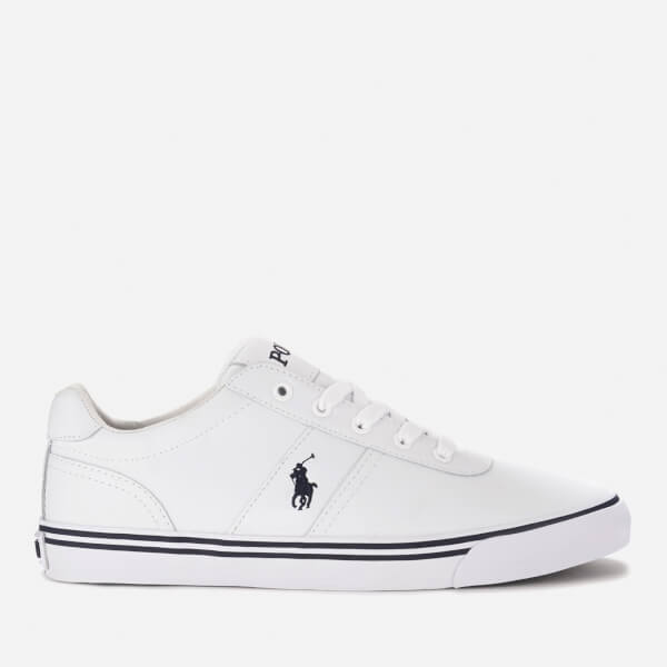 db6bdc64257 Polo Ralph Lauren Men's Hanford Leather Trainers - White | FREE UK ...