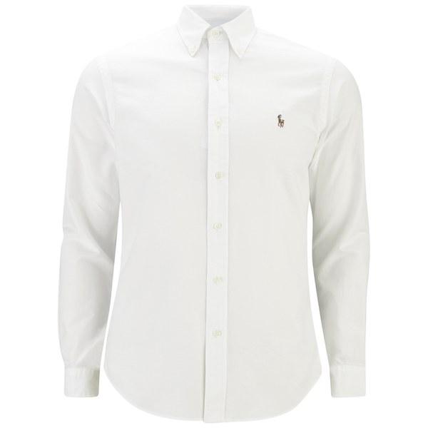 Polo Ralph Lauren Men's Slim Fit Long Sleeve Shirt - White