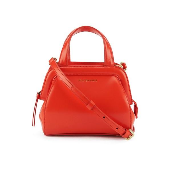 Lulu Guinness Women's Paula Mini Polished Calf Leather Tote Bag - Burnt Orange