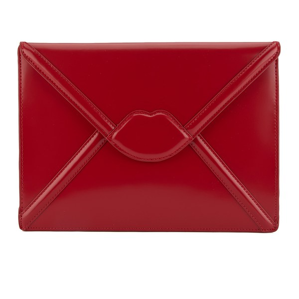 Lulu Guinness Women's Catherine Large Lips Envelope Clutch Bag ...