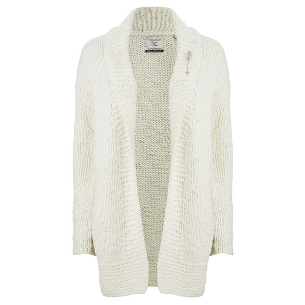 Maison Scotch Women's Home Alone Chunky Hand Knitted Cardigan - White