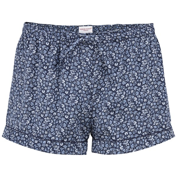 Derek Rose Women's Esme 4 Silk Shorts - Navy