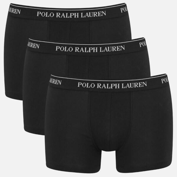 Polo Ralph Lauren Men's 3 Pack Trunk Boxer Shorts - Black