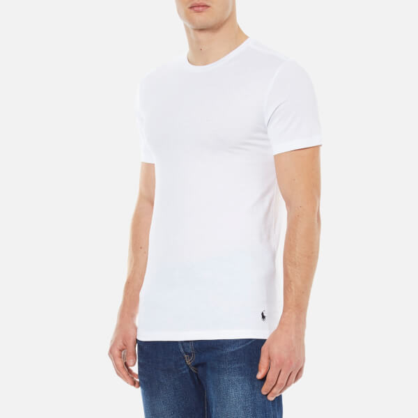 5b563bf5f7211 Polo Ralph Lauren Men s 2 Pack Crew T-Shirts - White - Free UK ...