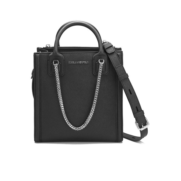 logo plaque tote bag - Black Karl Lagerfeld