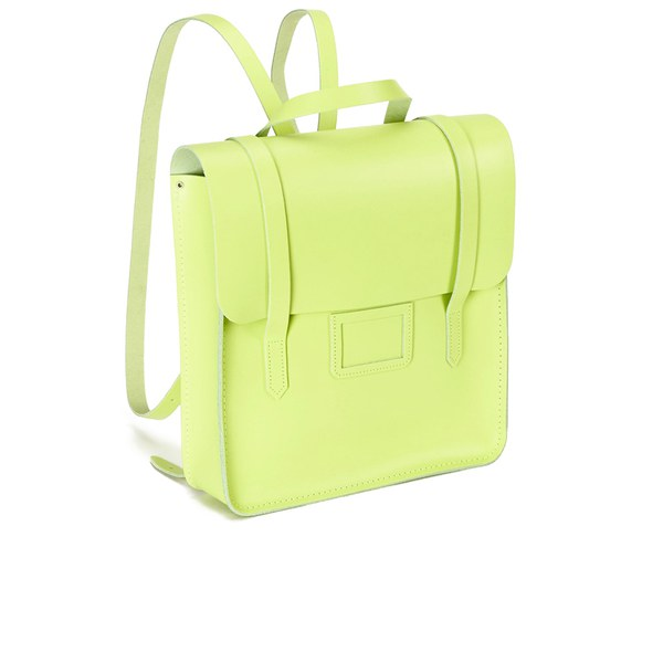 The Cambridge Satchel Company Women s Folio Backpack Fluoro Lime  Image 2 23a36da0bf49e