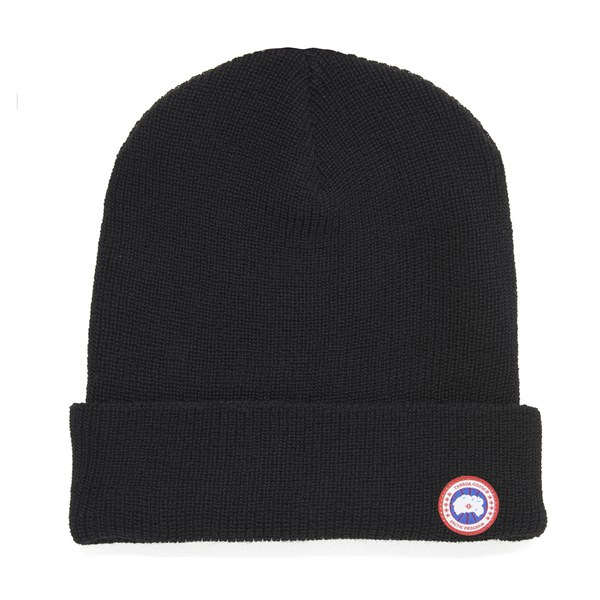 Canada Goose Men s Merino Wool Beanie Hat - Black - Free UK Delivery over  £50 515531c1a2b