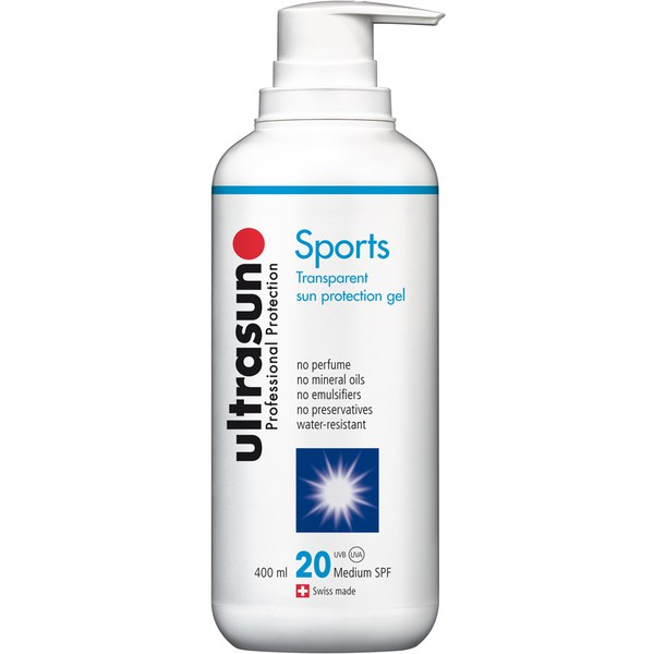 Gel protector solar Sports FPS 20 de Ultrasun (400 ml)