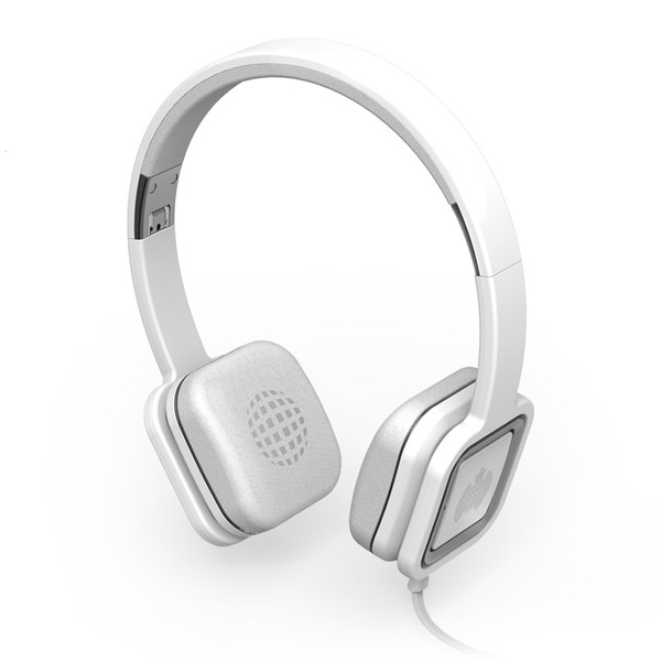 Ministry of Sound Audio On, On Ear Headphones - White and Gun Metal