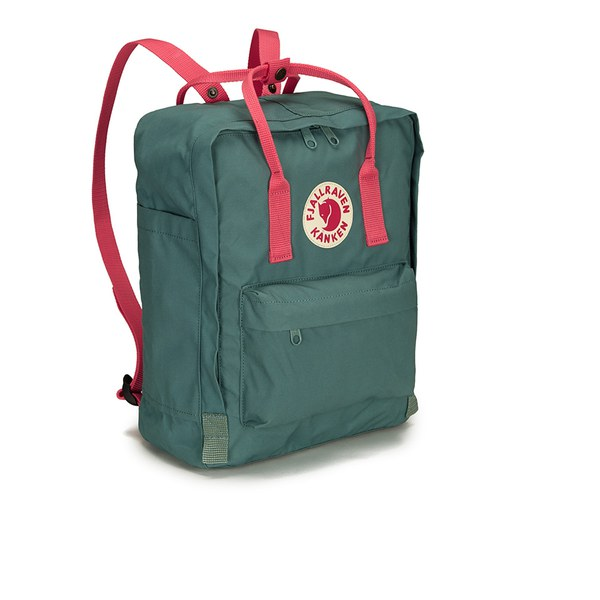 Fjallraven Kanken Backpack Frost Green Peach Pink Free