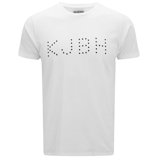 Han Kjobenhavn Men 39 S Dot Logo Crew T Shirt White Free