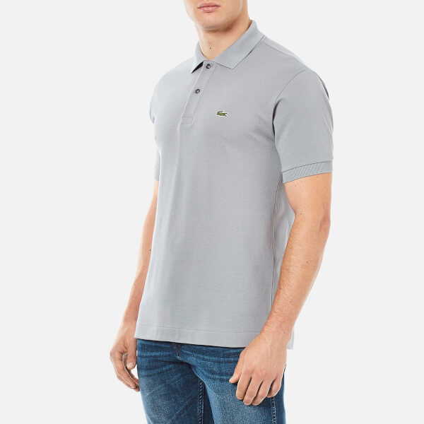 Lacoste men 39 s short sleeve polo shirt platinum free uk delivery over 50 - Lacoste poloshirt weiay ...