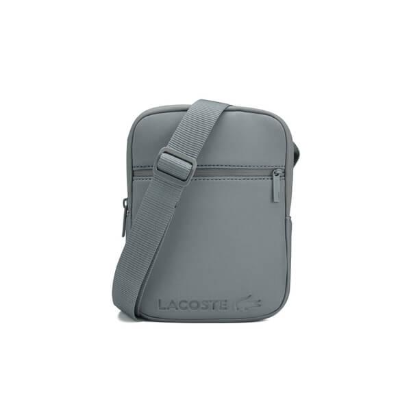 Lacoste Men s Tech Fabric Cross-Body Bag - Grey - Small Clothing ... bbe4f2e5002eb