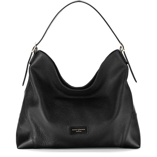 Aspinal of London Women's A Hobo Bag - Black Pebble