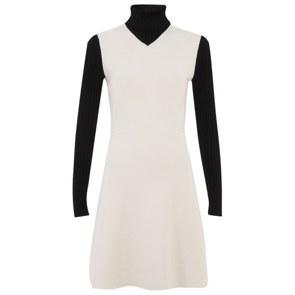 Theory Women's Myrelle Dress - Ivory Ice/Black