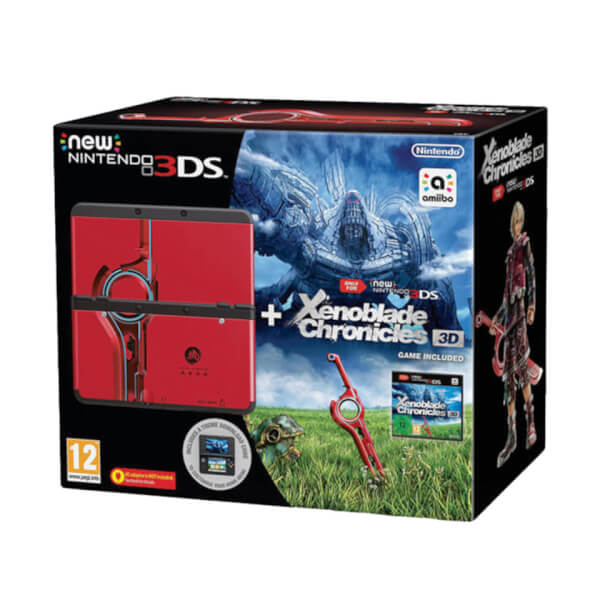 New Nintendo 3DS Black + Xenoblade Chronicles 3DS + Coverplate