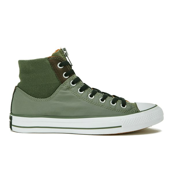 Converse Men's Chuck Taylor All Star MA-1 Zip Hi-Top Trainers - Olive