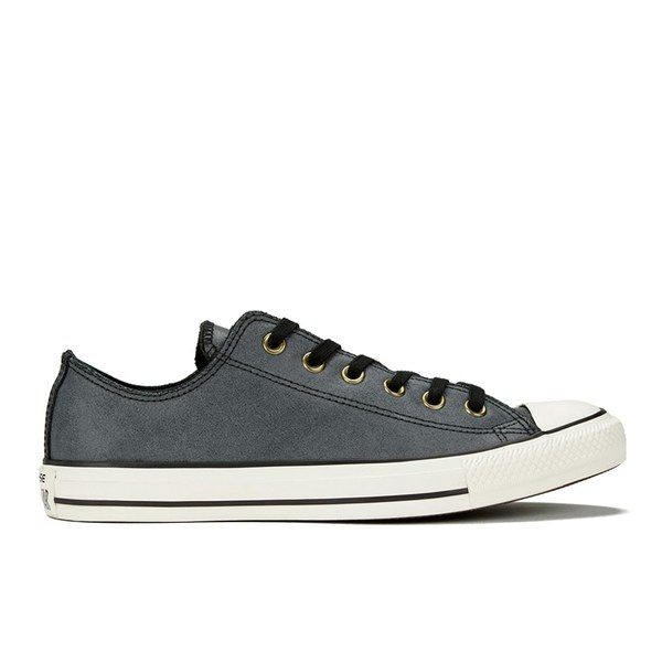 Converse Men's Chuck Taylor All Star Vintage Leather OX Trainers - Black/Egret:  Image