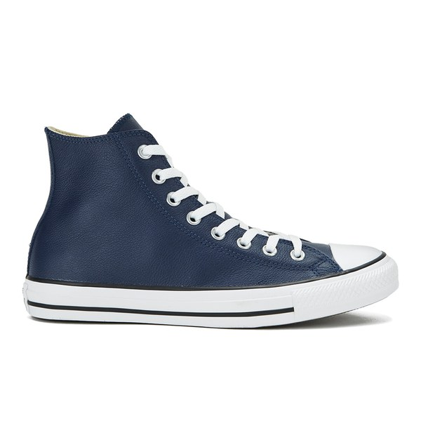 fdb0a48ee38a93 Converse Men s Chuck Taylor All Star Seasonal Leather Hi-Top Trainers -  Nightime Navy