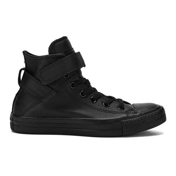 Converse Women s Chuck Taylor All Star Brea Leather Hi-Top Trainers -  Black  Image 361e3ef95