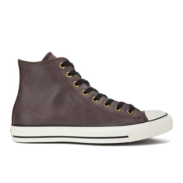 Converse Men's Chuck Taylor All Star Vintage Leather Hi-Top Trainers - Burnt  Umber/