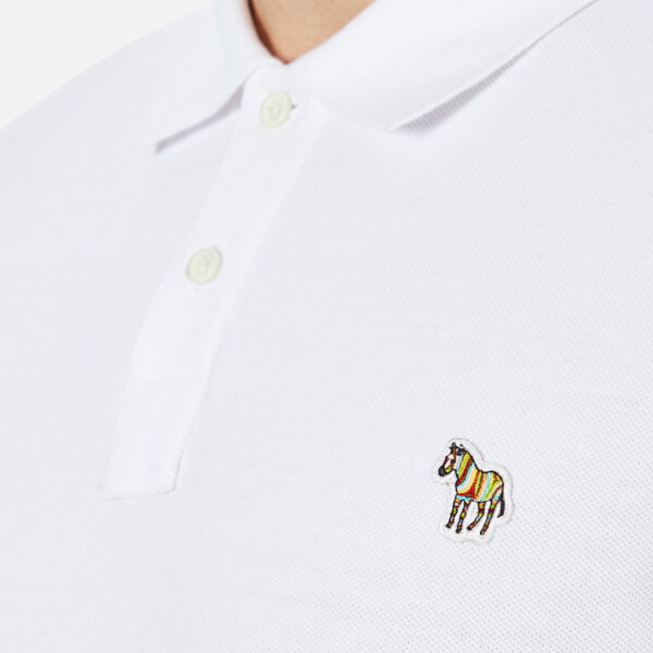 Paul smith Zebra Polo Shirt in Gray for Men | Lyst