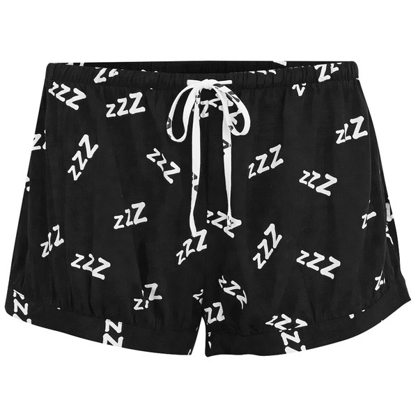 MINKPINK Women's 101 Sleeps Pyjama Shorts - Black