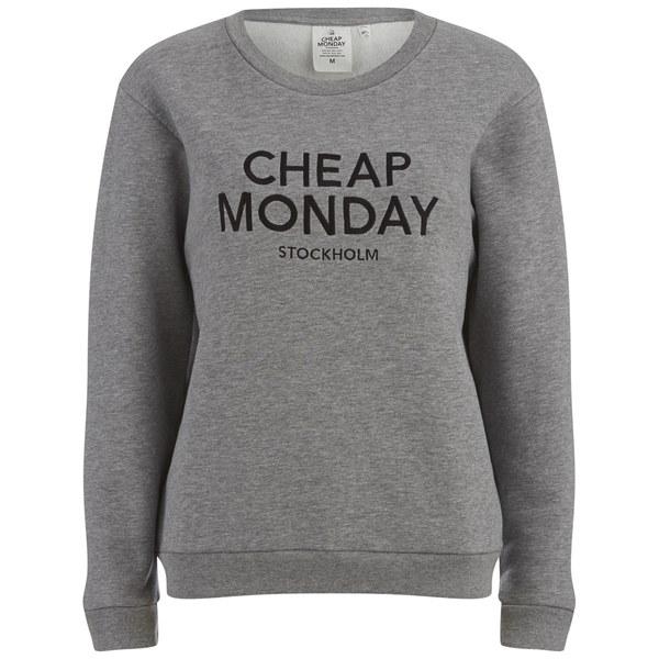 Cheap Monday Women's Shaw Slogan Sweatshirt - Grey Melange Womens ...