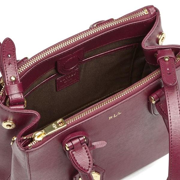Lauren Ralph Lauren Women s Newbury Mini Double Zip Satchel - Rosewood   Image 6 76165a4d71fdc