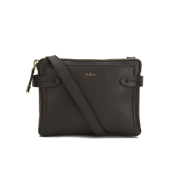Lauren Ralph Lauren Women\u0027s Crawley Double Zip Cross Body Bag - Burnished  Brown: Image 1