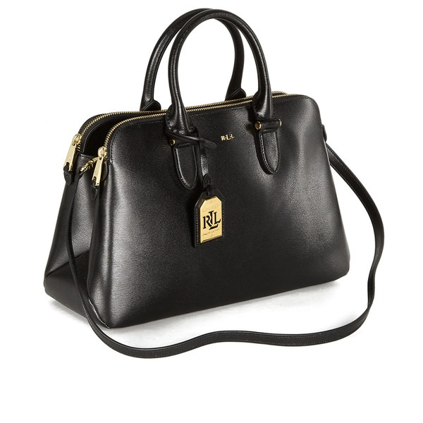 24b797802b Lauren Ralph Lauren Women s Newbury Double Zip Dome Tote Bag - Black  Image  2