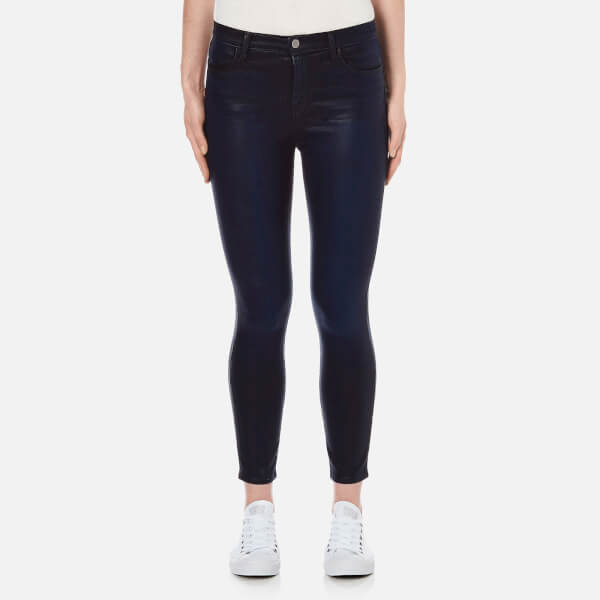 J Brand Women's Alana High Rise Coated Crop Jeans - Indigo Elixir