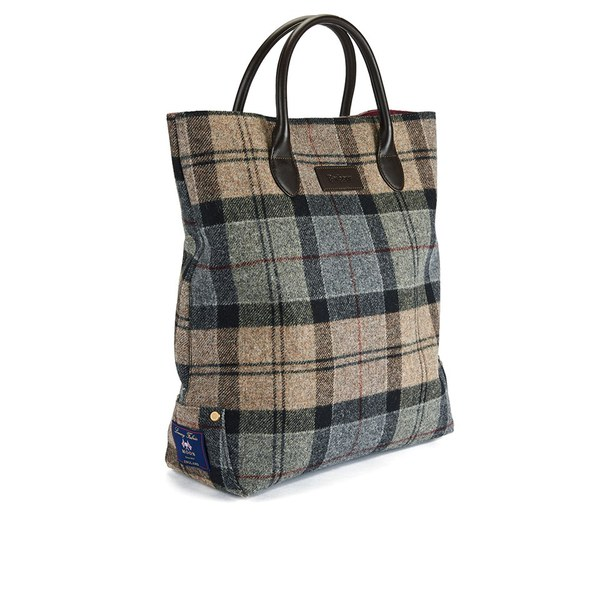 Barbour Straighton Tartan Tote Bag Winter Image 2