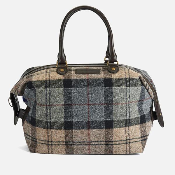 barbour women 39 s munro tartan mini holdall bag winter tartan damen accessoires. Black Bedroom Furniture Sets. Home Design Ideas