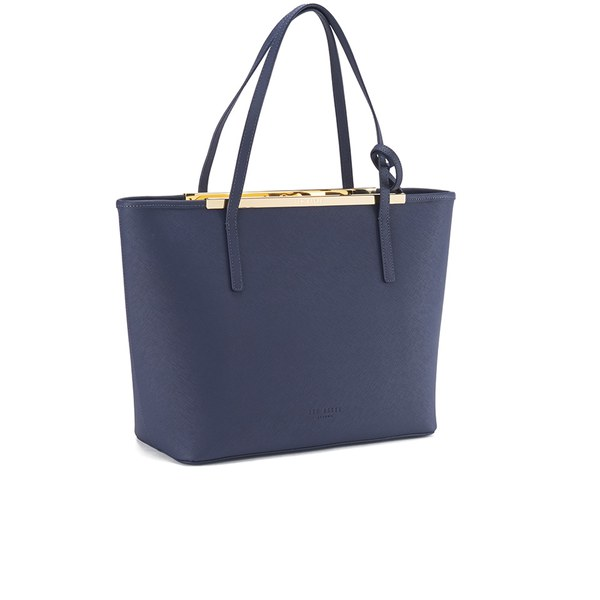 1223377a50 Ted Baker Women's Noelle Printed Lining Crosshatch Shopper Bag - Dark Blue:  Image 2