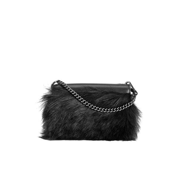 Marc by Marc Jacobs Women's Quintana Fur Cris Phone Wallet - Black