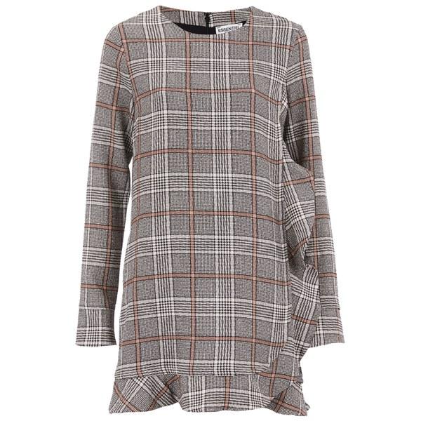 Essentiel Antwerp Women's Check Dress - Grey/Nude