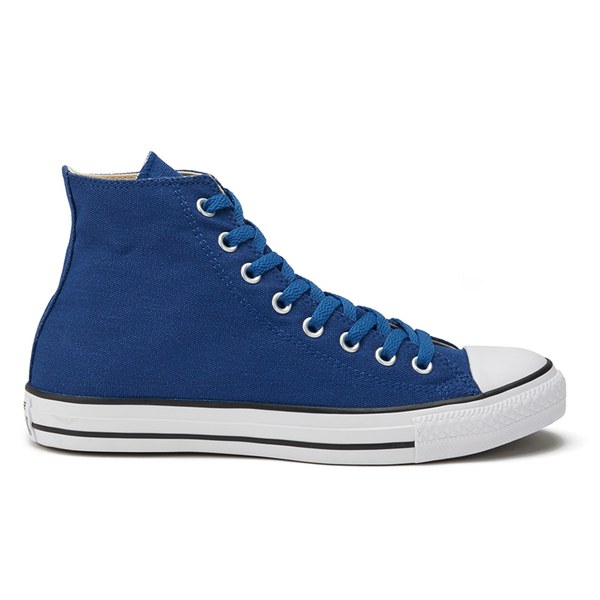 2e86a844b902 Converse Men s Chuck Taylor All Star Coated Canvas Wash Hi-Top Trainers -  Blue Jay